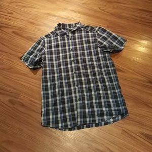 Mens ARC'TERYX Blue Plaid Button Up Shirt MEDIUM